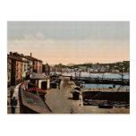 Harbour, San Sebastian, Spain vintage Photochrom
