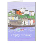 Harbour Scene Birthday Card