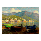 Harbour Scene from Rapallo; Paul Fischer painting Poster