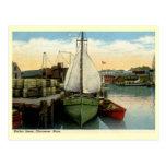 Harbour Scene, Gloucester, MA Vintage Postcard