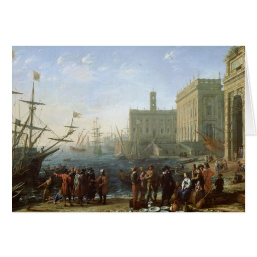 Harbour Scene Greeting Card