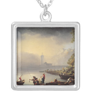 Harbour Scene Silver Plated Necklace