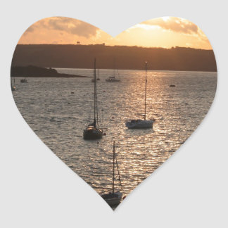 Harbour Sunrise Heart Sticker