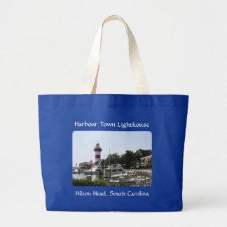 Harbour Town Lighthouse Hilton Head SC Totebag Jumbo Tote Bag