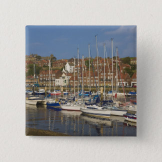 Harbour, Whitby, North Yorkshire, England 15 Cm Square Badge