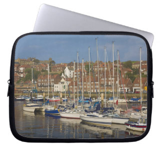 Harbour, Whitby, North Yorkshire, England Laptop Sleeve
