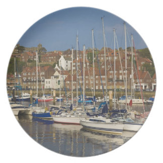 Harbour, Whitby, North Yorkshire, England Plate