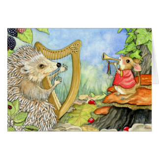 Harcourt the Hedgehog greeting card