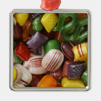 Hard candy, full frame christmas ornament