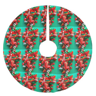 Hard Christmas candies Brushed Polyester Tree Skirt