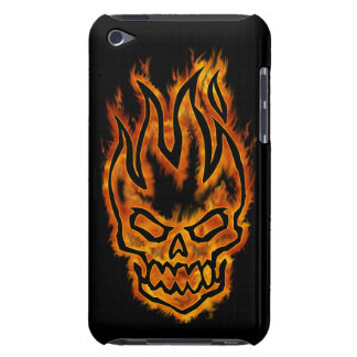 Hard Core Flaming Skull Barely There iPod Touch Barely There iPod Cases