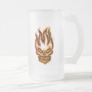Hard Core Flaming Skull Mug