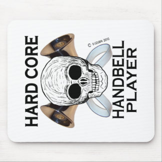 Hard Core Handbell Player Mouse Pad