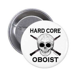 Hard Core Oboist 6 Cm Round Badge