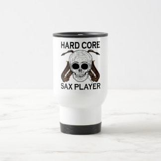 Hard Core Sax Player Stainless Steel Travel Mug