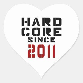 Hard Core Since 2011 Heart Sticker