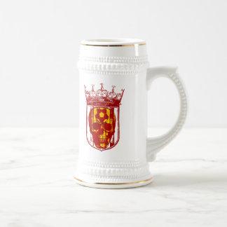 Hard core Spanish futbol fans skull shield gifts Beer Steins
