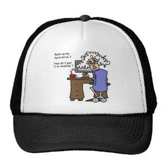 Hard Drive Back Up Humorous Mesh Hats