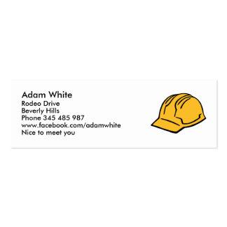 Hard hat construction helmet pack of skinny business cards