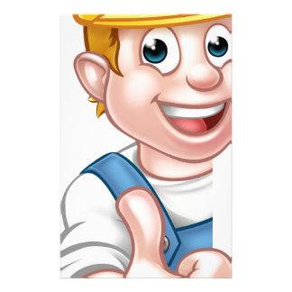 Hard Hat Handyman Carpenter Mechanic or Plumber Personalized Stationery