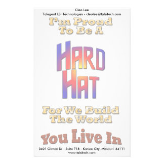 Hard Hat Pride Stationery