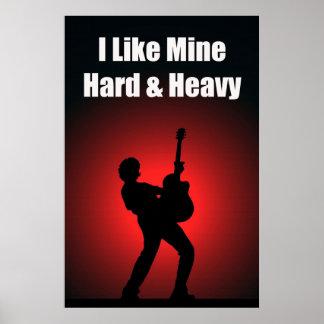 Hard & Heavy 36 x 24 Poster