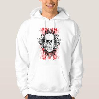 Hard Hitter Grunge Skull Hoodie