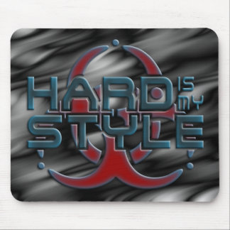 Hard Is My Style 3D | black waves | hardstyle Mousepad