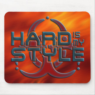 Hard Is My Style 3D | fire red | hardstyle music Mousepad