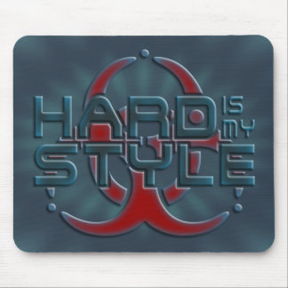Hard Is My Style 3D | I love hardstyle music Mousepad