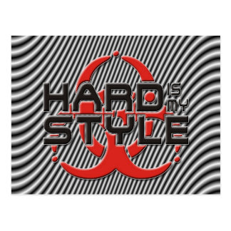 hard Is my style - stripes | hardstyle music Postcard