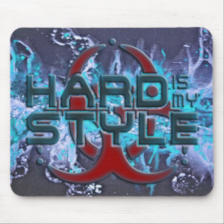 HARD is my STYLE + your background image Mousepad