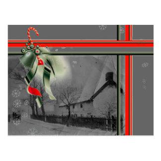 Hard Lane 1920's Christmas Postcard