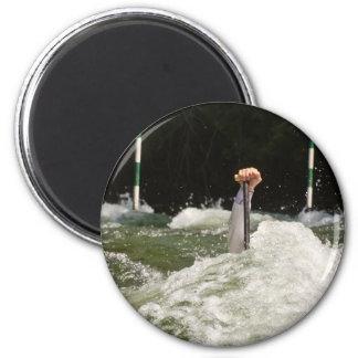 Hard paddling 6 cm round magnet
