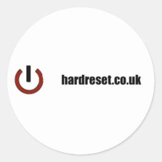 Hard Reset Classic Round Sticker