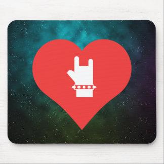 Hard Rock Bands Symbol Mouse Pad