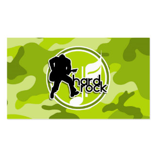 Hard Rock bright green camo camouflage Business Card Template