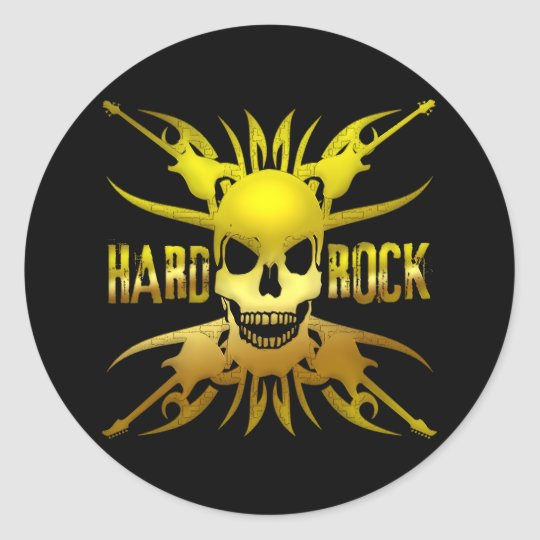 HARD ROCK CLASSIC ROUND STICKER