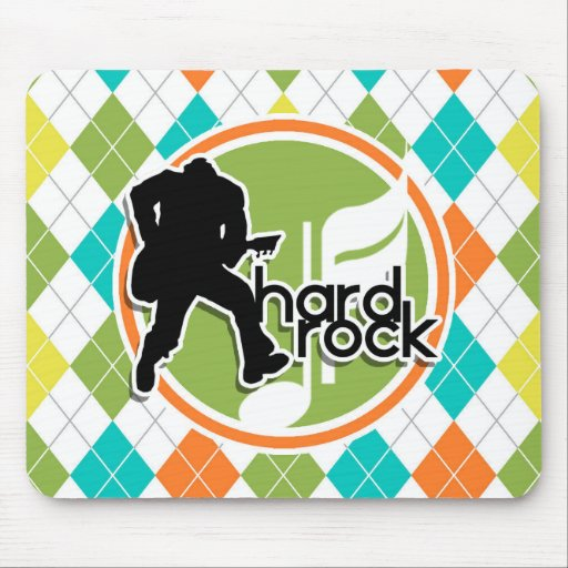 Hard Rock; Colorful Argyle Pattern Mouse Pad