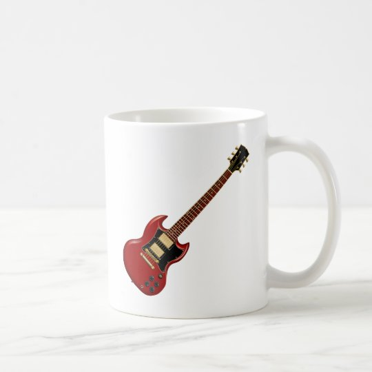 Hard Rock Electric Guitars (red) Coffee Mug