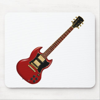 Hard Rock Electric Guitars (red) Mouse Pad