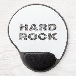 Hard Rock Granite Text Gel Mouse Pad