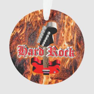 Hard rock into the fire ornament