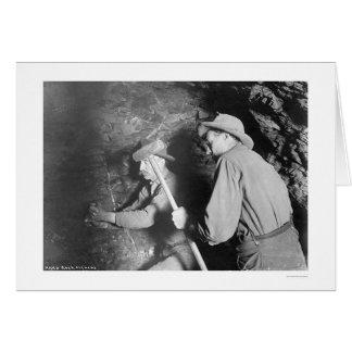 Hard Rock Miners Alaska 1916 Greeting Cards