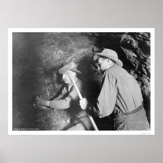 Hard Rock Miners Alaska 1916 Print