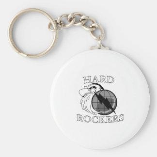 Hard Rockers logo Basic Round Button Key Ring