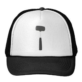 Hard rubber mallet hat