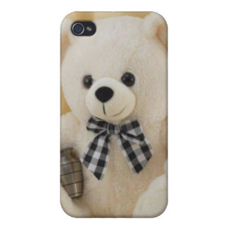 Hard Shell Case for iPhone 4/4S, Cutie Teddy Bear Cases For iPhone 4