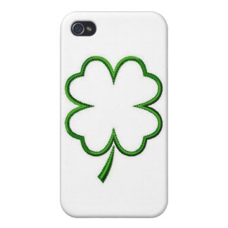 Hard Shell Case for iPhone 4 4S Four Clover Leaf