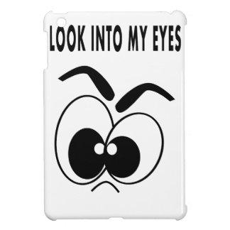 hard shell iPad mini case cartoon wacky eyes